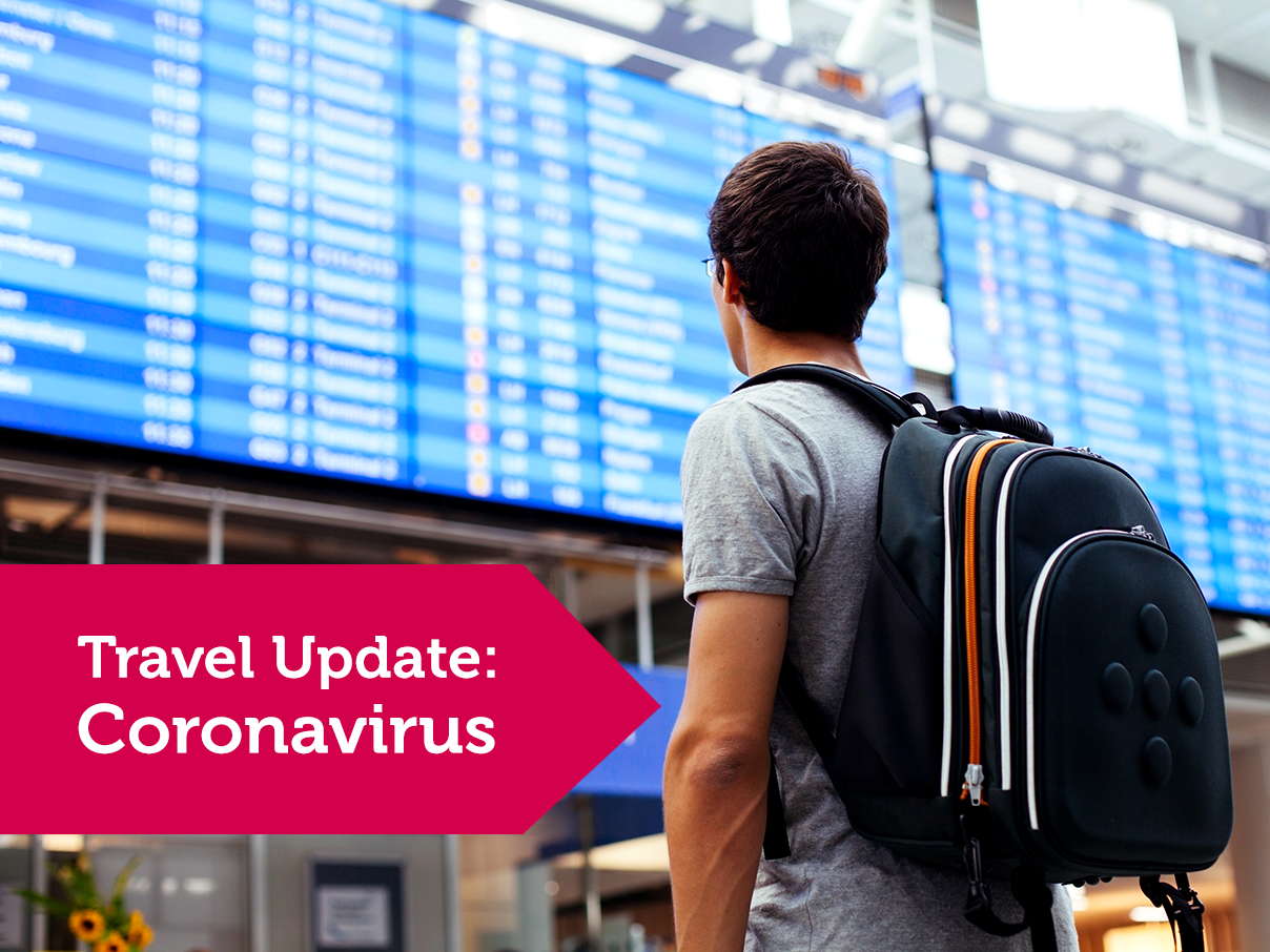 Travel Update: Coronavirus Banner